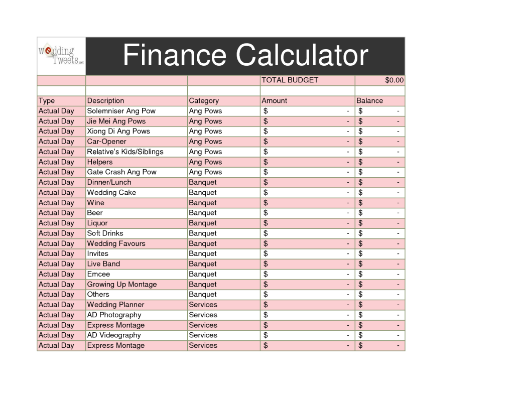 Car Finance Calculator Matching To Monthly Download