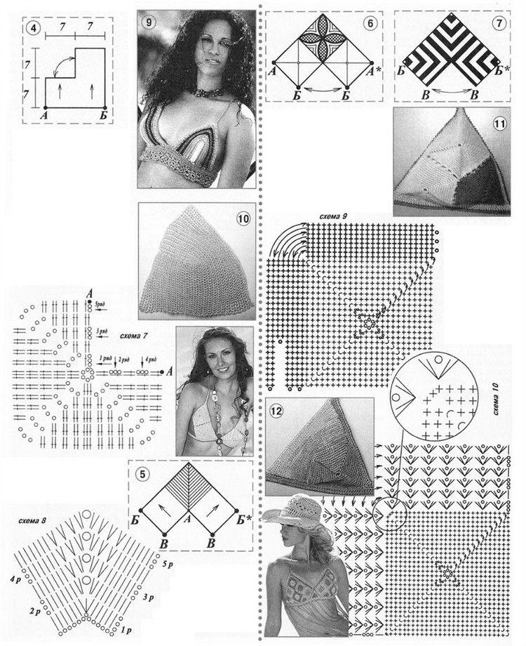 Patrones para Crochet: iDeas Copas Sujetadores en Crochet | Moni ...