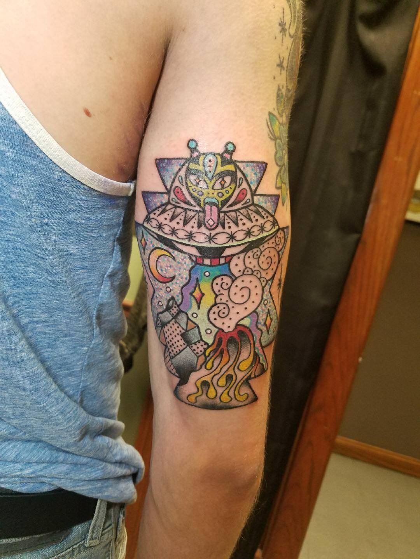 TATTOO STICKER in 2020 Nerd tattoo, Tattoos, Thin line