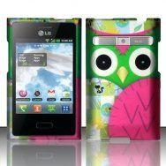 LG Optimus Logic L35g / Dynamic L38c Case Owl Green/Pink Patchwork Design Cover (Straight Talk/Net 10) + Free TRENDE Gift Box by TRENDE, http://www.amazon.com/dp/B00BUZU2SY/ref=cm_sw_r_pi_dp_YLZUrb0BHMXKA