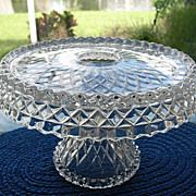 Cake Stand Pedestal Feather Doric McKee EAPG