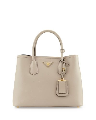 9064364fa1cf aliexpress saffiano cuir small double bag light gray pomice by prada at  neiman marcus. b7f74