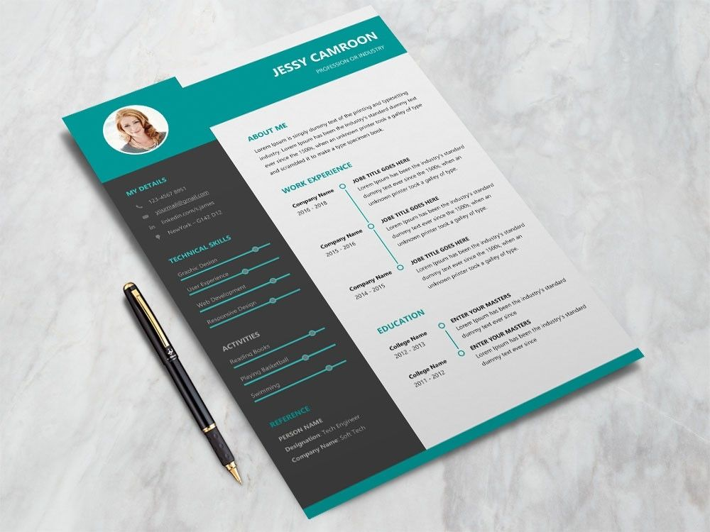 Free Microsoft Word Resume Template With Modern Design Resume