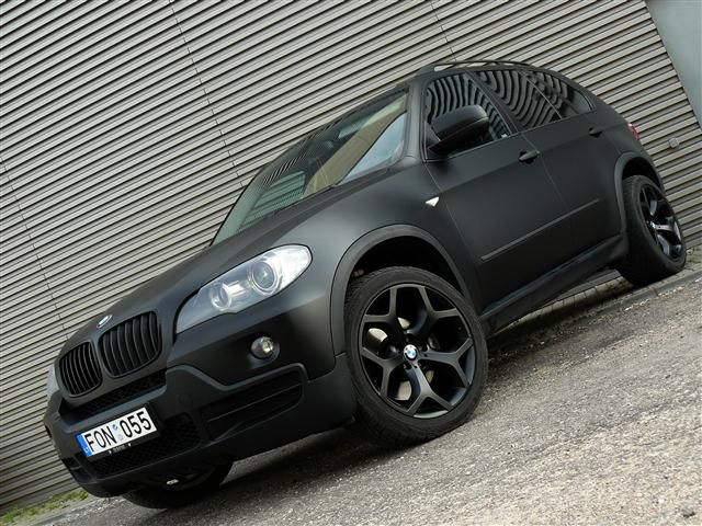 Paint Is Dear Wrap It Up Is What We Told You This Past Sunday And They Are Doing It All Over The World Every Tuning Show Seems Matte Black Bmw