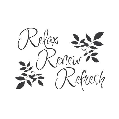 Relax Renew Refresh Mount Wall Decal Lifestyle Bathroom - Wall decals relax