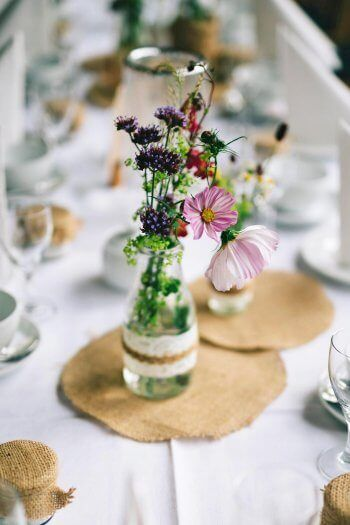 Moderne Tischdeko in 2019 | Tischdekoration zur Hochzeit ...