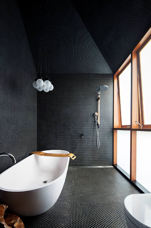 Dreamy dark bathroom style allblack