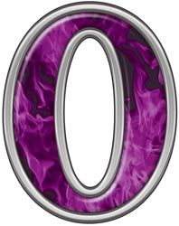 0 | number 0 with inferno purple flames reflective number 0 with inferno .