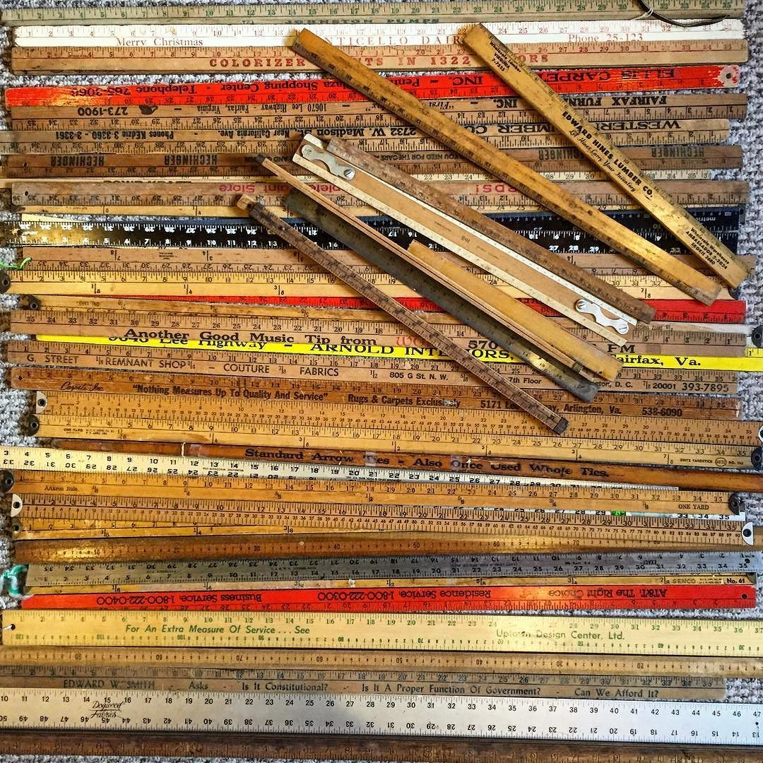 Cleveland Park Vintage On Instagram I Have About 40 Yardsticks And Another 20 Or So Folding Rulers That Need New Homes Wooden Ruler Cleveland Park Old Tools