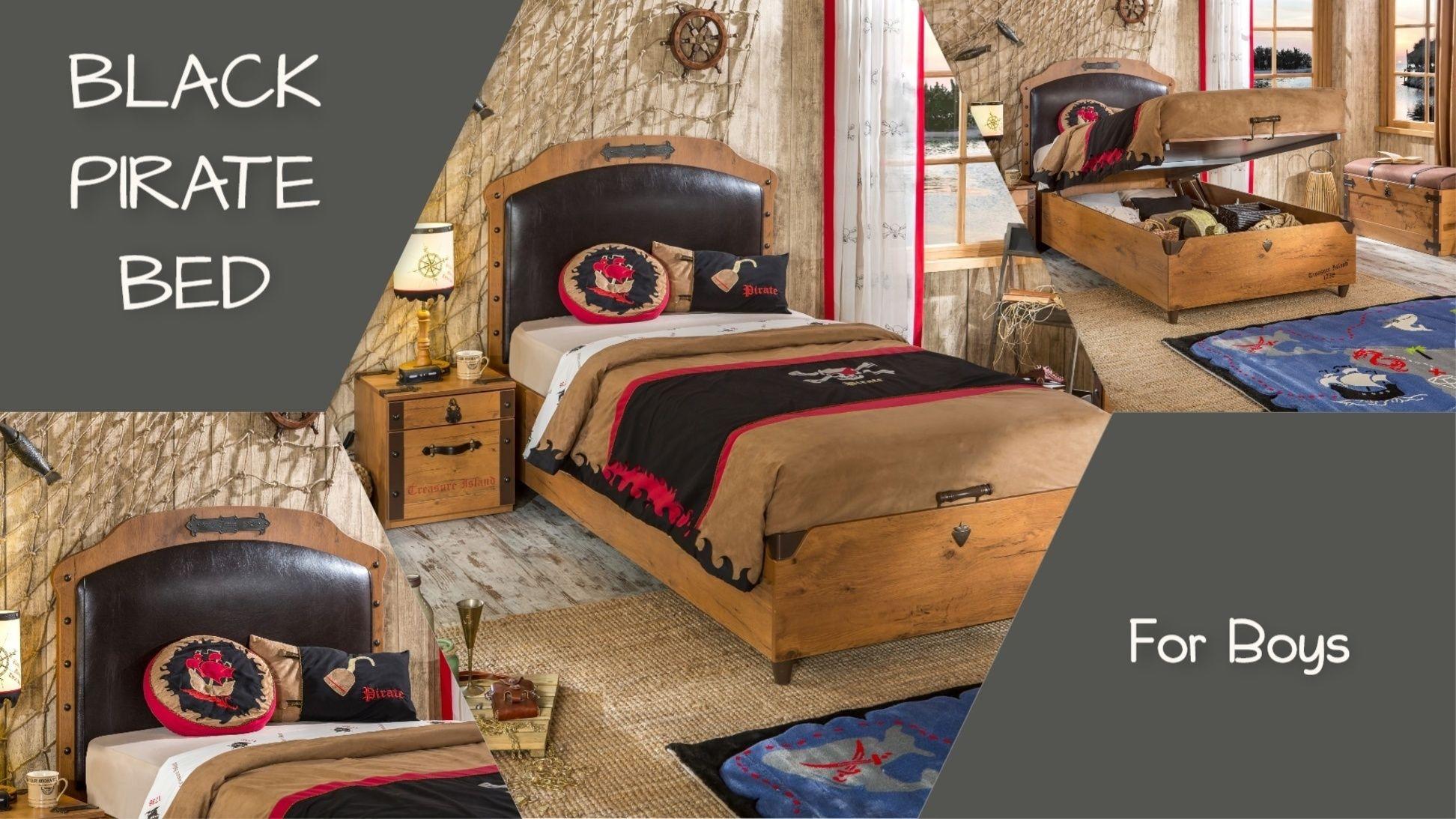 Ένα από τα ωραιότερα παιδικά κρεβάτια με αποθηκευτικό χώρο έρχεται από την  σειρά PIRATE με δερμάτινο 451a3c727c4