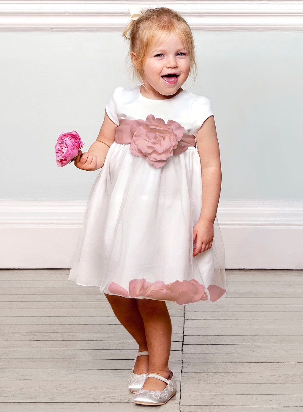 Fleur Baby Dusky Pink Bridesmaid Dress - baby dresses - young ...