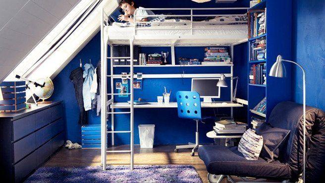 chambre d 39 ado zoom sur la tendance des lits en mezzanine. Black Bedroom Furniture Sets. Home Design Ideas