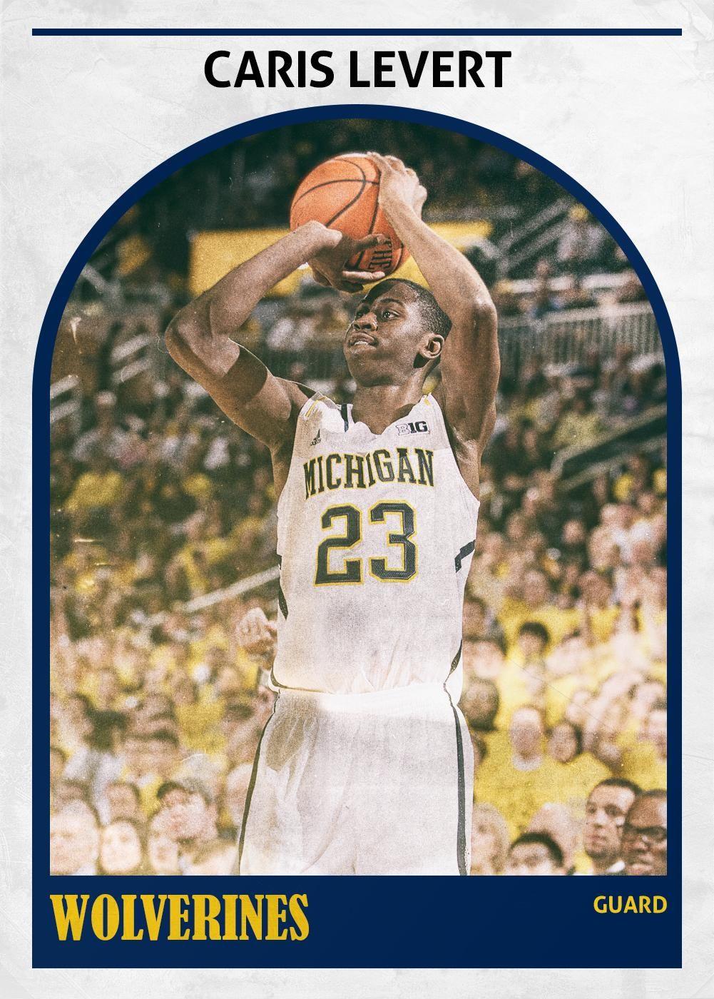 University of Michigan's Chris LeVert player card. NCAAB