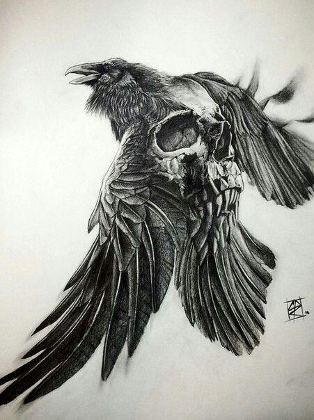 Pingl par dinara sur darc pinterest tatouages corbeaux et tatouage corbeau - Tatouage corbeau signification ...