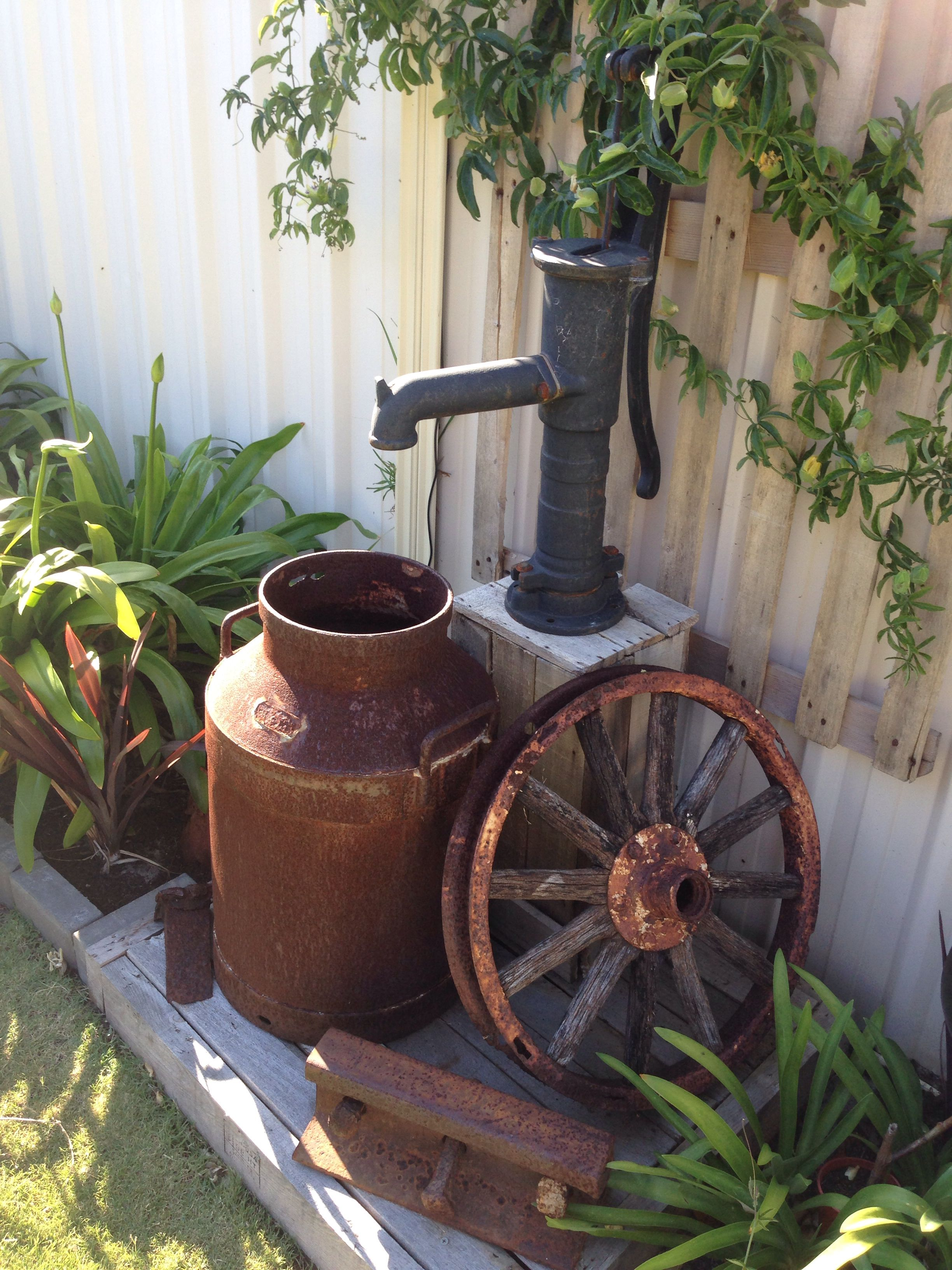 Old Milk Jug With A Old Pump I Used A Solar Pump For The Pump
