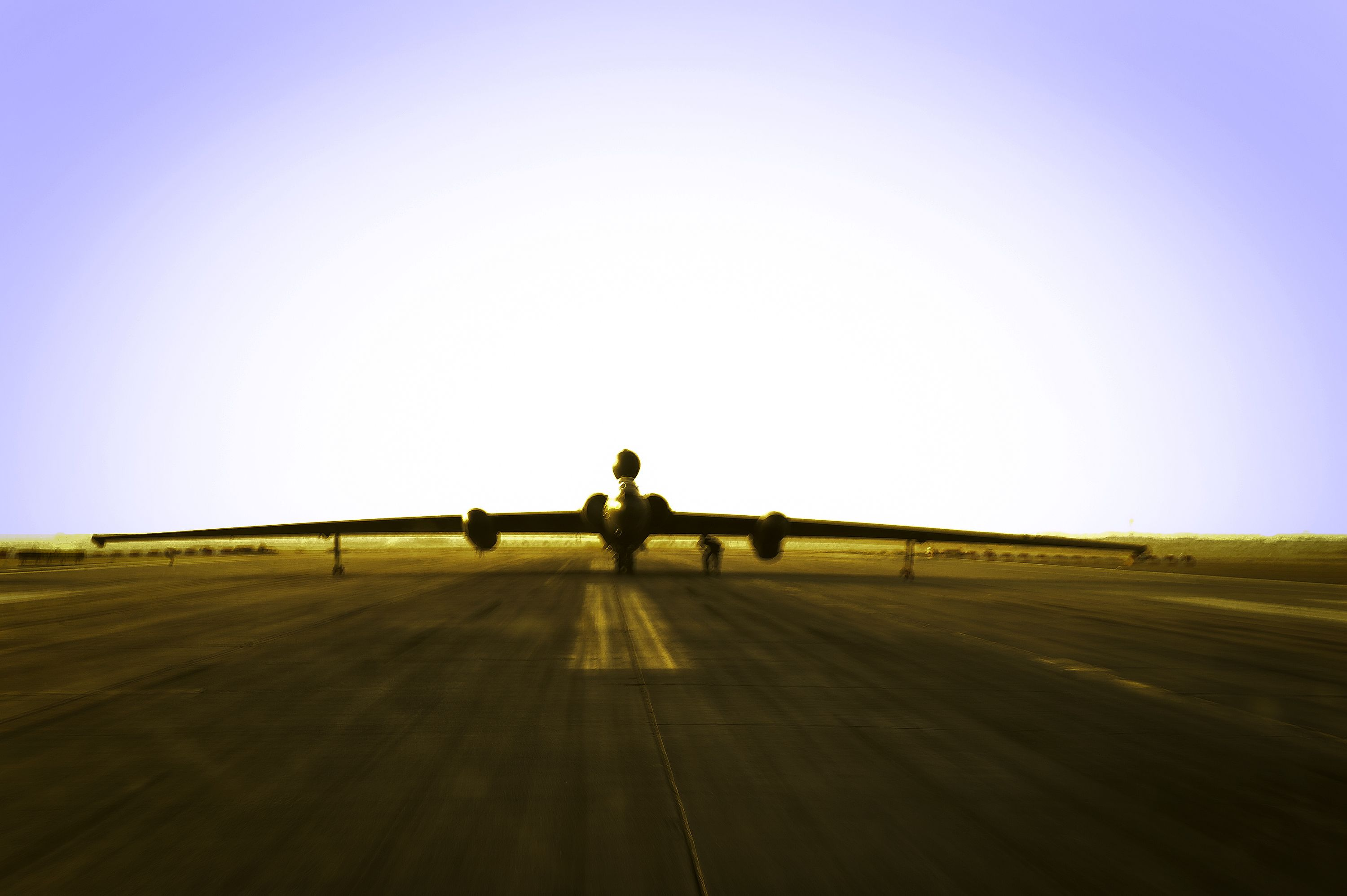 """Lt. Col. Jeff Klosky sits inside a Lockheed U-2 """"Dragon Lady"""" preparing for his flight April 20, 2014, at a flightline in Southwest Asia. The flight marked Klosky's 2,500th hour of flight in the U-2. (U.S. Air Force photo/Tech. Sgt. Russ Scalf)"""