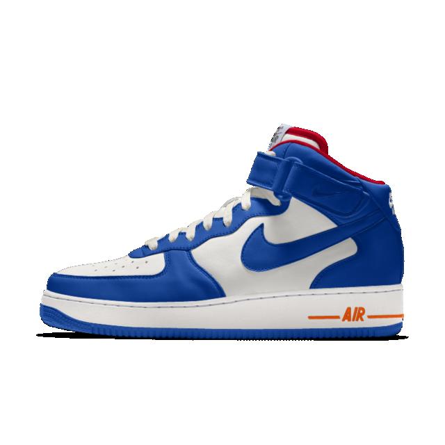 air force 1 mid uomo blu
