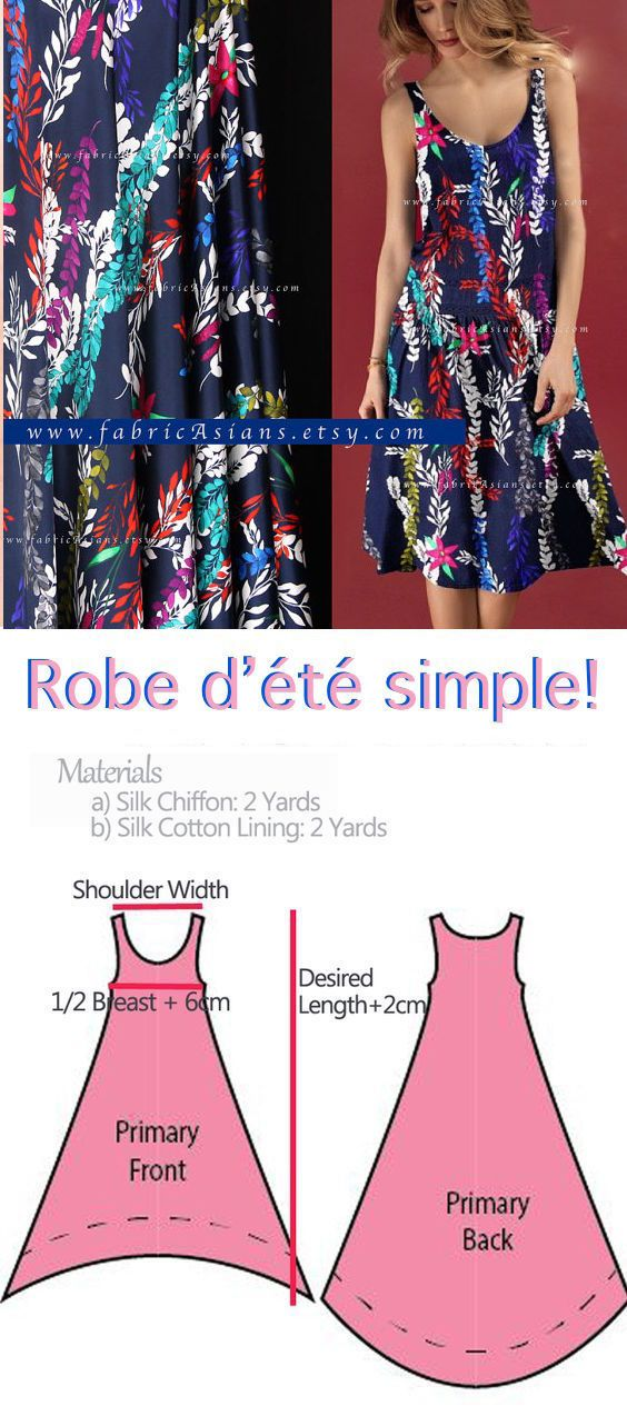 how to sew beach dress? easy beach dress pattern free PDF | Costura ...
