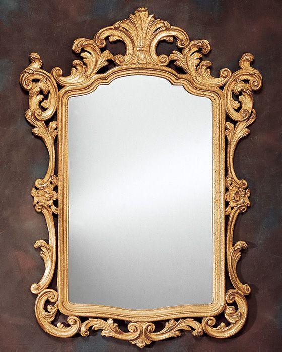 mirror antique mirror gold leaf mirror 18th century carved