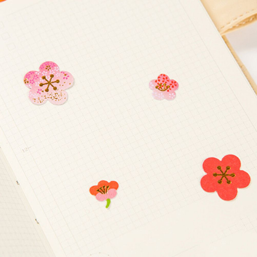 Pcsset plum flower cherry blossoms stationery paper stickers diy
