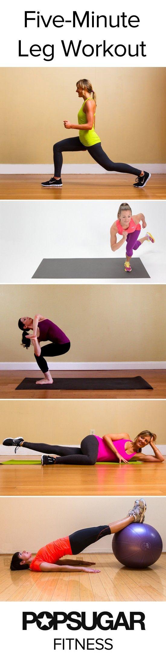 Five-minute leg workout routine! Perform each move for one minute. leg workout routine! Perform each move for one minute.