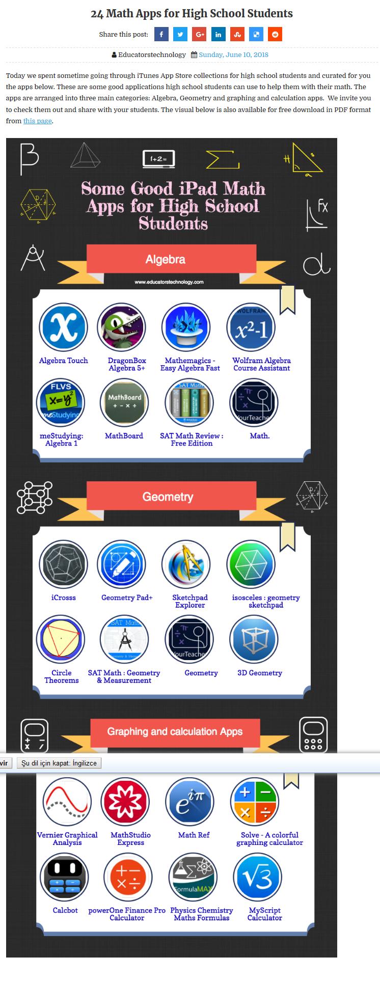 Ekran görüntüsü 24 Math Apps for High School Students
