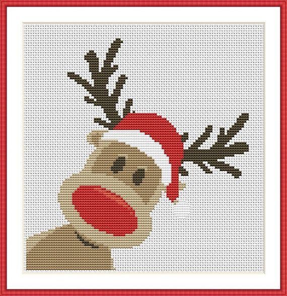 Deer reindeer cross stitch. | Punto Cruz | Pinterest | Punto de cruz ...