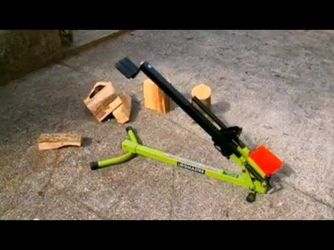 manual foot operated log splitter