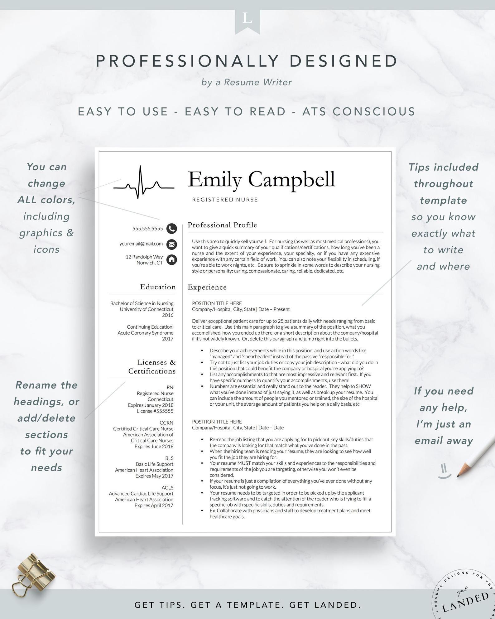 New nurse resume template registered nurse resume