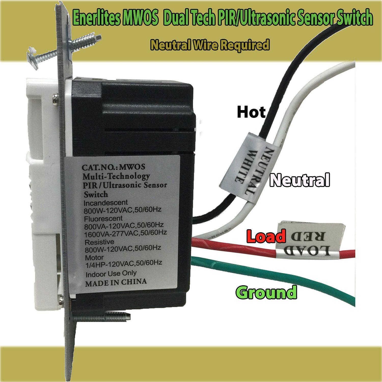Enerlites MWOS Dual Tech PIR/Ultrasonic Occupancy/Vacancy
