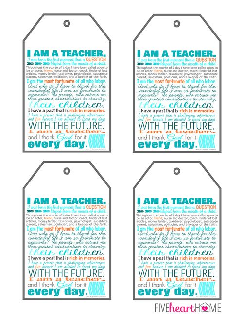 Teacher Appreciation Free Printables ~ 8x10 - printable membership cards