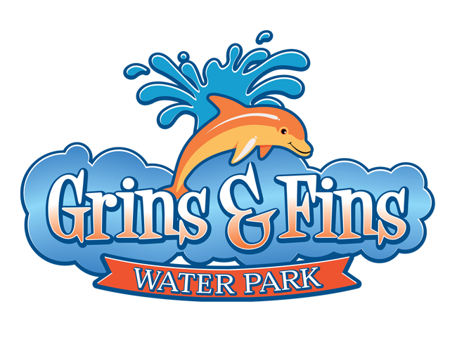 grins and fins water park logo designed by mcquillen creative group rh pinterest com water park logo design logos land water park in ottawa