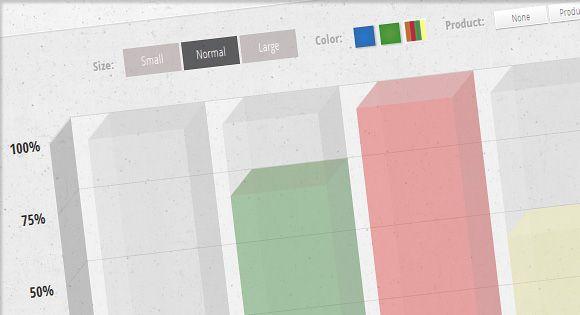 Animated 3D Bar Chart with CSS3 Web development, Infographics - bar chart template