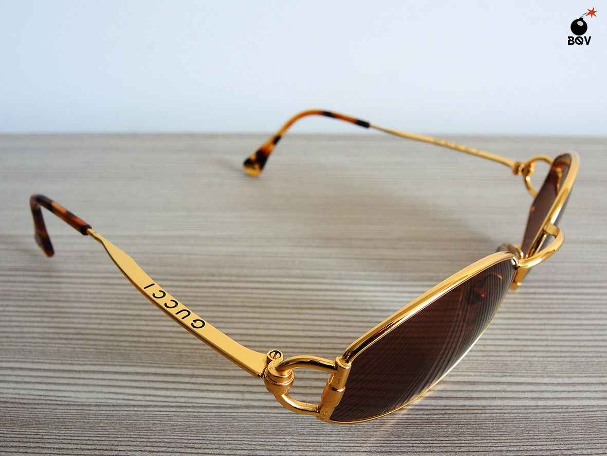 GUCCI 2602 sunglasses GOLD oval NOS