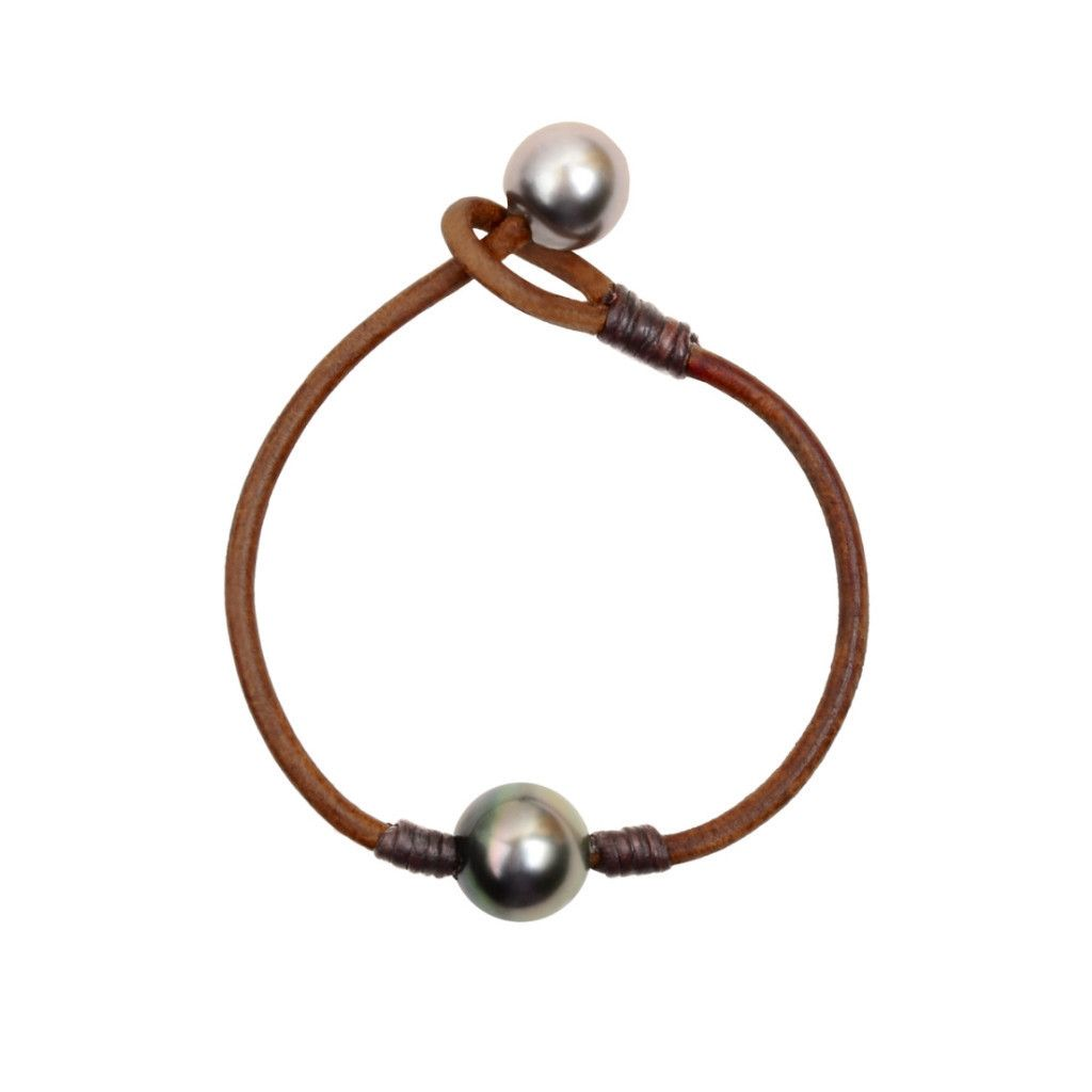 Marina Seaplicity Leather Jewelry Pearl Leather Leather