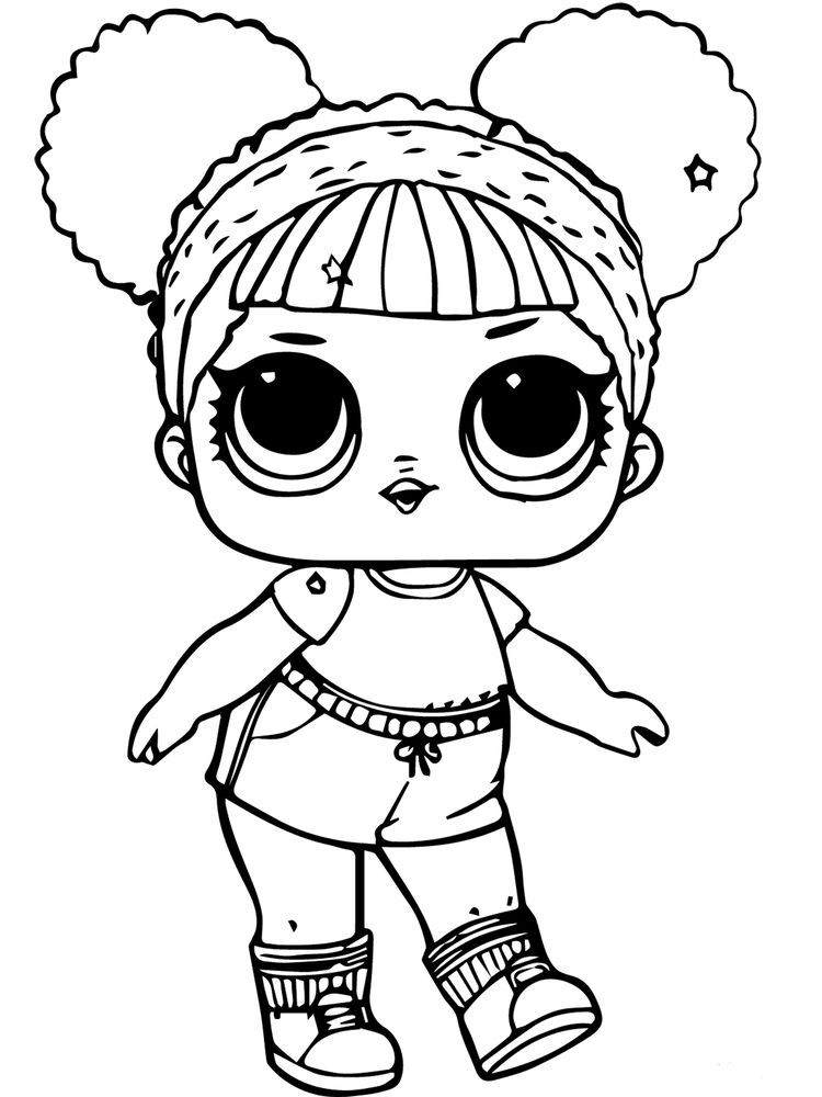 Doll Colouring Page Who Likes Dolls The Ones At Home Have Lots Of Dolls Maybe Even Until Your Mattress Or Cool Coloring Pages Cute Coloring Pages Lol Dolls