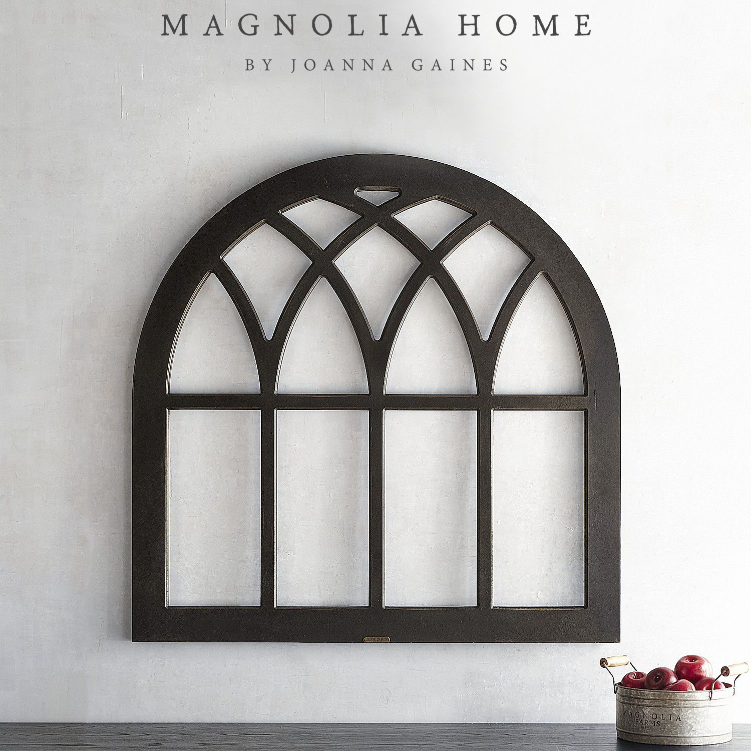 Garage door windows that open  Magnolia Home Cathedral Window Frame Wall Decor  Products