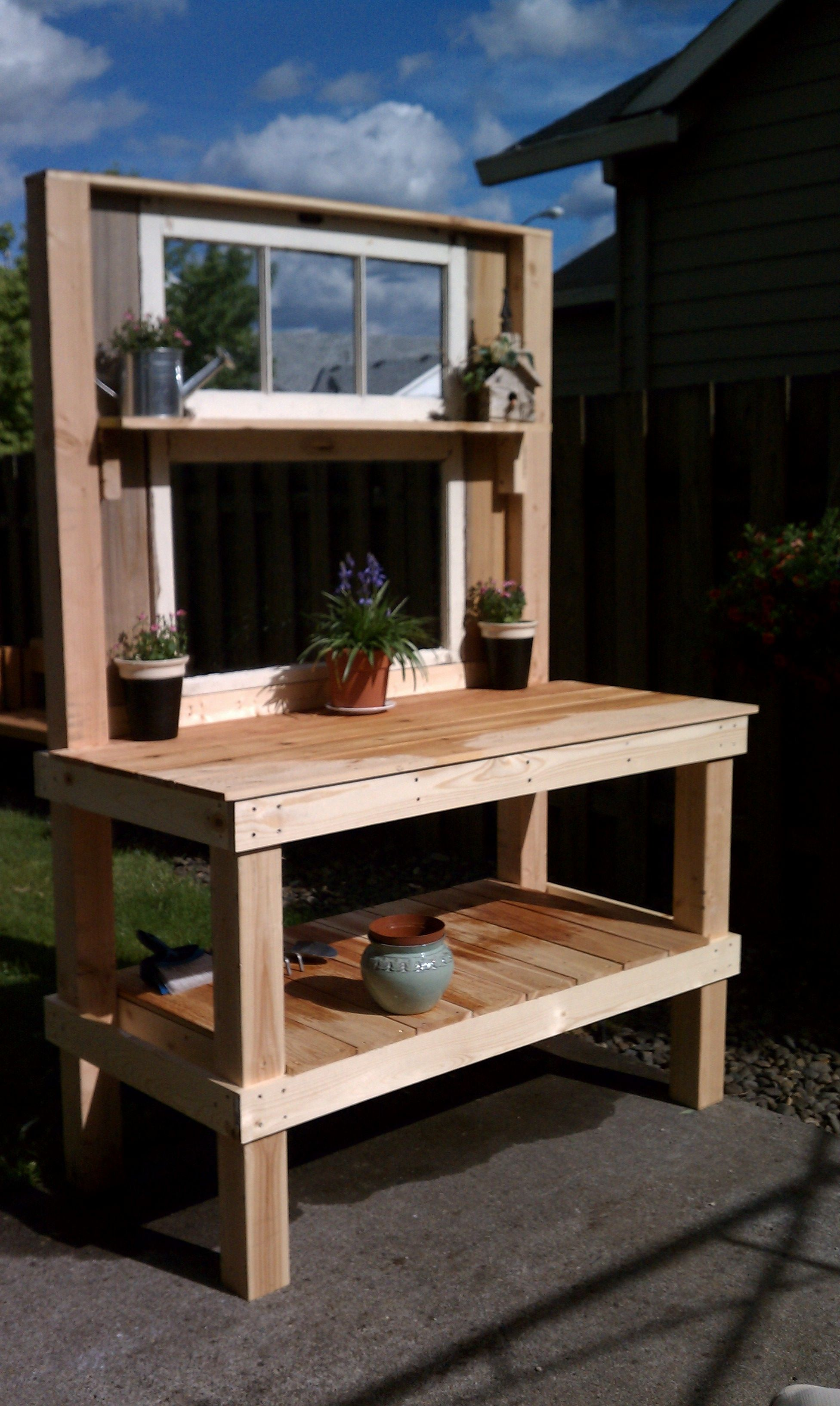 Potting Bench Project Up cycle of old style double