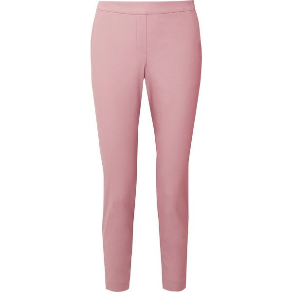 Thaniel Cropped Stretch Cotton-blend Twill Slim-leg Pants - Baby pink Theory oOCny