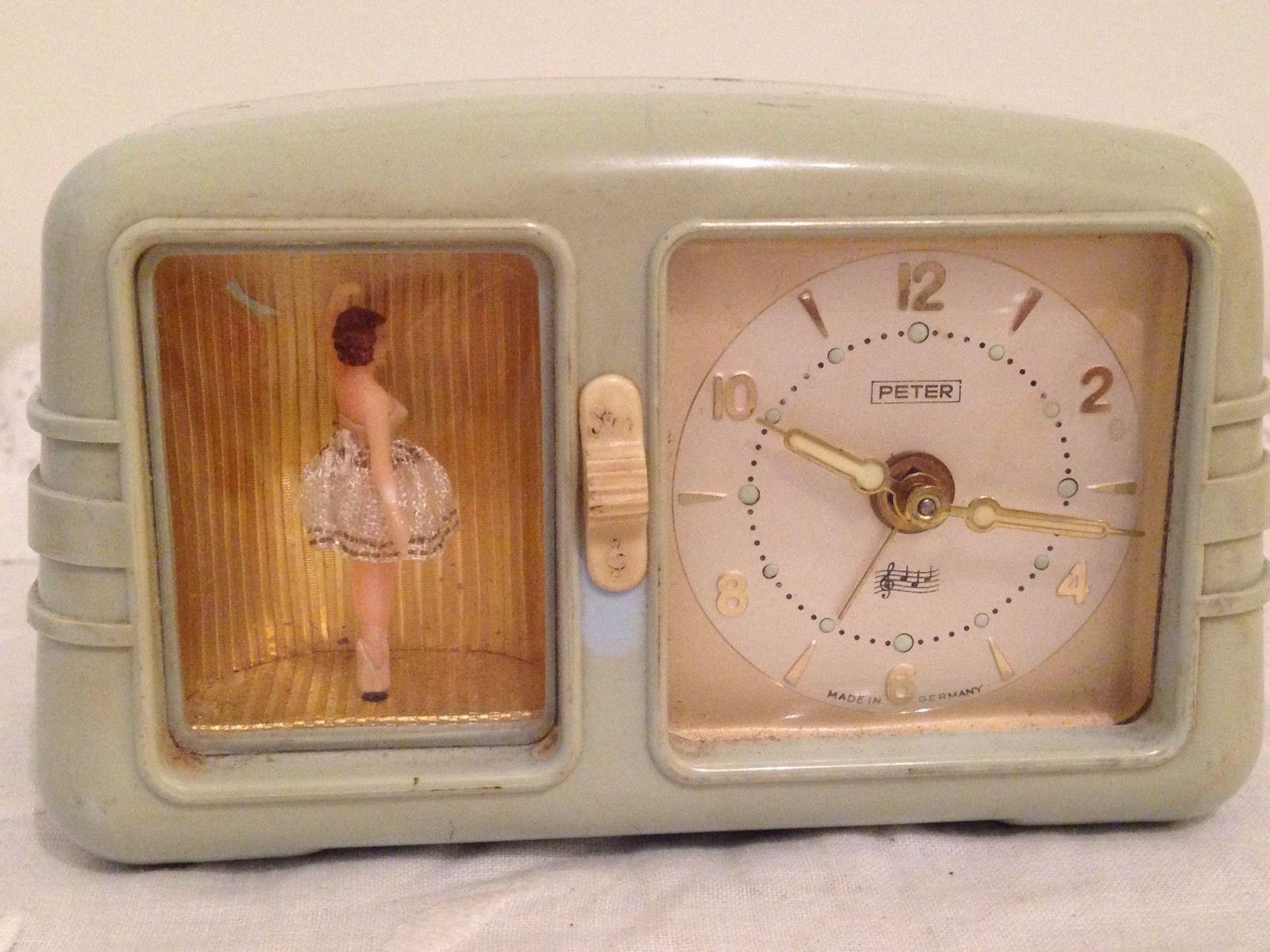 Vintage German Ballerina Alarm Clock Vintage Clock Old Clocks Clock