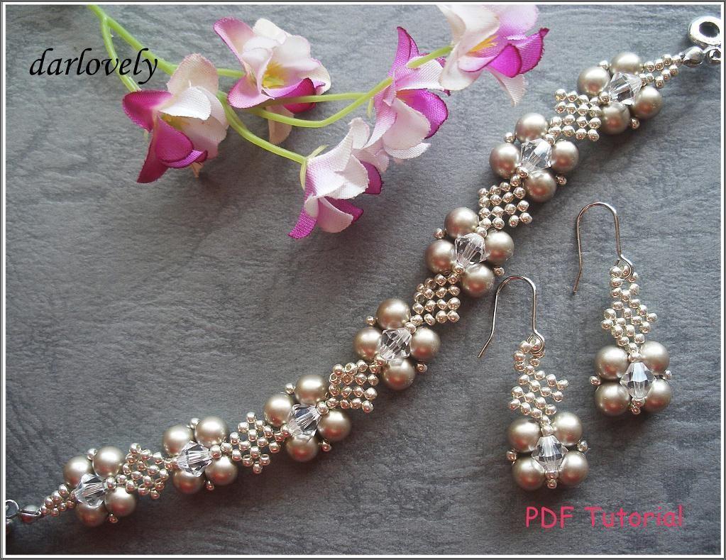 Platinum Pearl Netted Bracelet&Earrings | Netted bracelet, Jewelry ...
