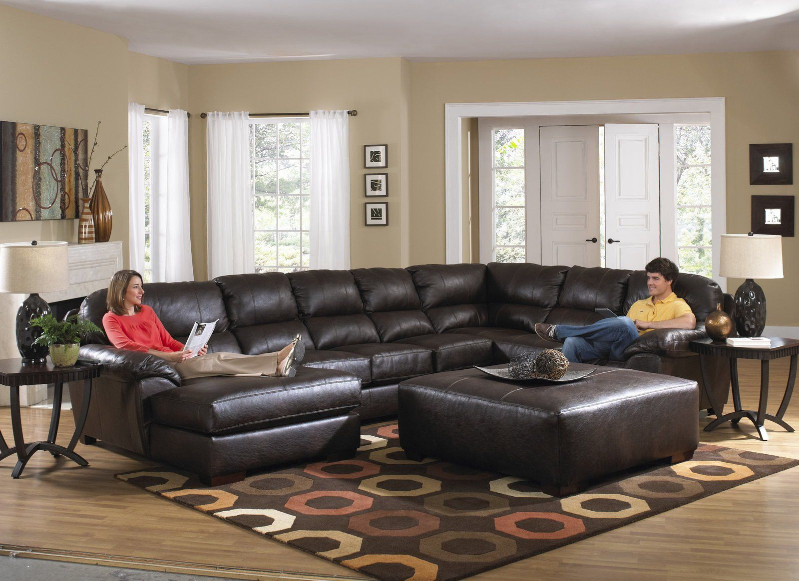 Jackson Lawson 3 Piece Sectional Rsf Section-armless Sofa