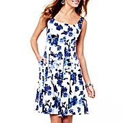 American Living Scoop-Neck Floral Sundress
