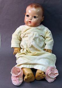 vintage effannbee dydee doll | ... EFFANBEE DY-DEE Baby Doll hard plastic rubber 1930's vintage w/applied