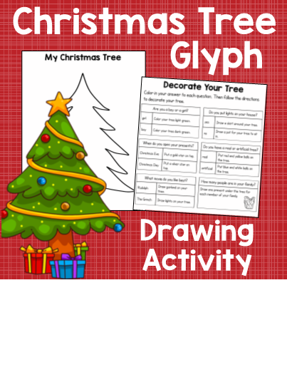 Christmas Tree Glyph Drawing Activity. This is fun, drawing activity for  the holiday season - Christmas Tree Glyph Drawing Activity. This Is Fun, Drawing Activity