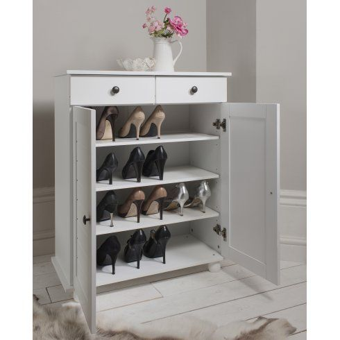 Noa And Nani Heathfield Shoe Storage Unit In White Shoe Cabinet
