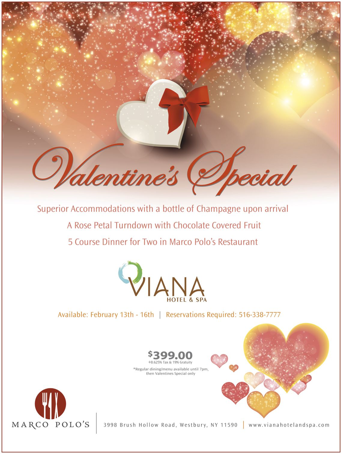 Valentines Special at the Viana Hotel and Spa. Valentine