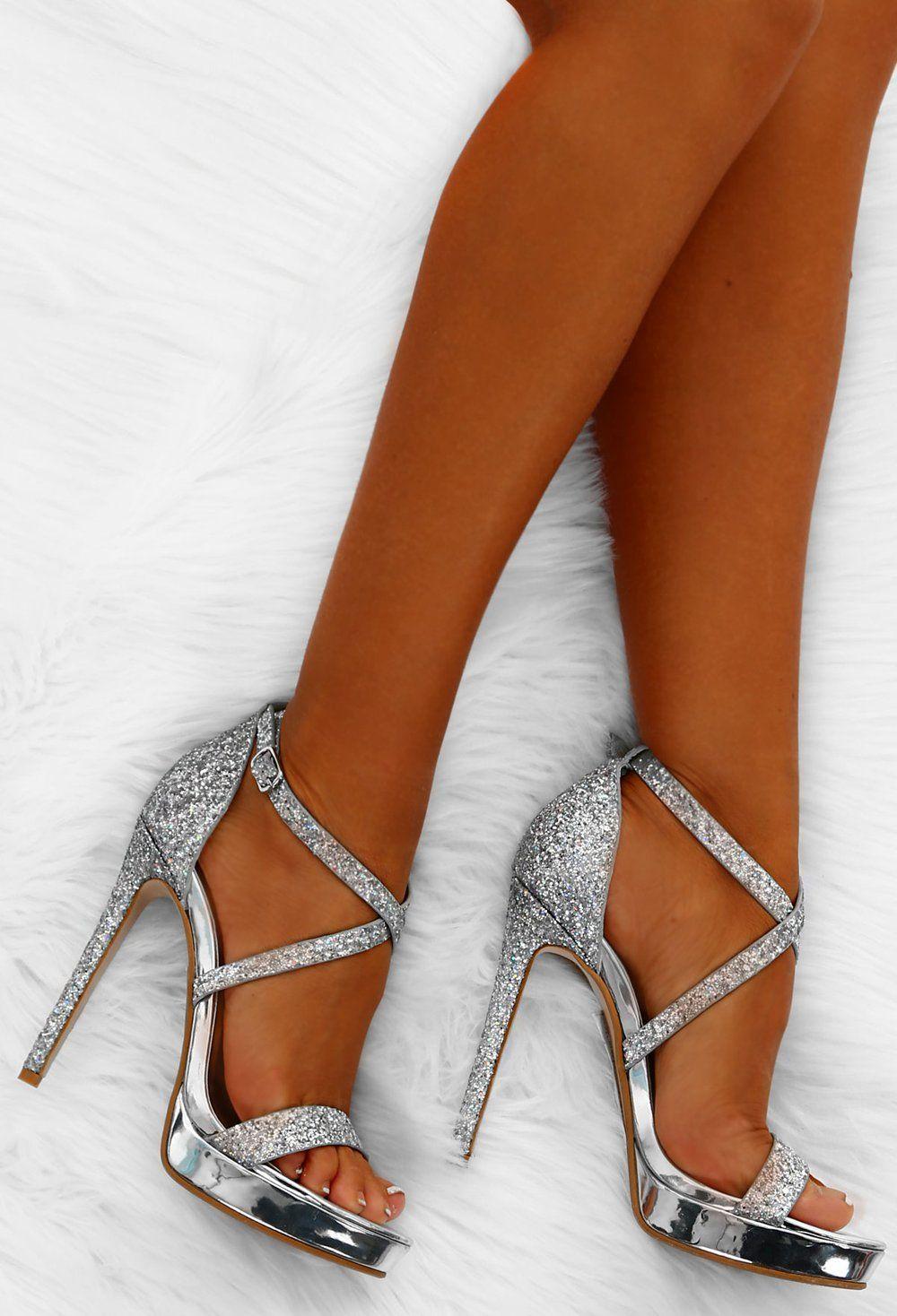 Party Queen Silver Glitter Platform Heels Shoes Heels Prom Prom Shoes Silver Silver Platform Heels [ 1468 x 1000 Pixel ]