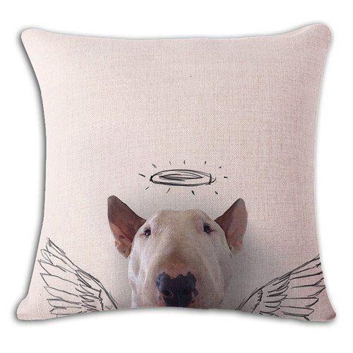 Angel Innocent Bull Terrier Funny Pillow Case