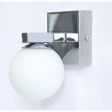Applique salle de bains Nina, chromé, 28 watts | Leroy Merlin ...